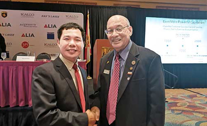 Executive Chairman of LIA Dr. Nathaniel Quick Congratulates Mr. Chan elected as the director of LIA